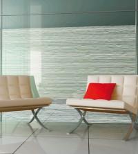 Dekorfolie, horizontal weiß wellige Streifen