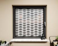 Glasdekor für Fenster, sanfte Wellen