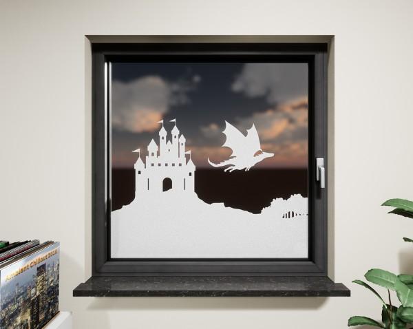 Glasdekor für Fenster, Drachenburg