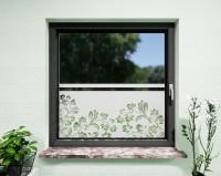 Glasdekor für Fenster, Ornamente Blumen