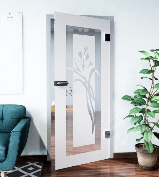 Glasdekor für Türen, La rosa