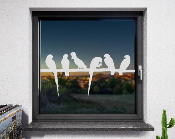 Fenstertattoo, Vögel