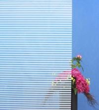 Dekorfolie, horizontale weiße Streifen, Breite 10 mm
