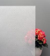 Sichtschutzfolie Wassertropfen auf weißem Grund