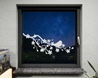 Fenstertattoo, Kirschblüten