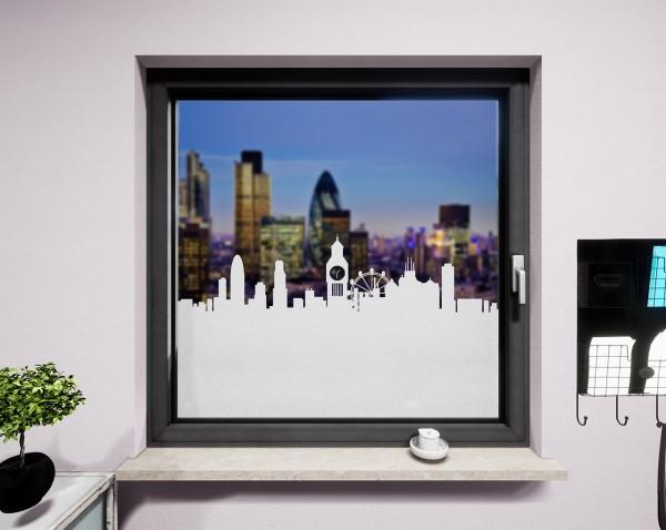 Glasdekor für Fenster, Skyline London