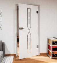 Glasdekor für Türen, Richtungspfeile