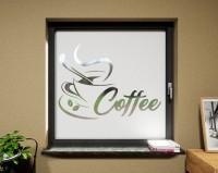 Glasdekor für Fenster, Kaffee