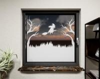 Glasdekor für Fenster, Hexe