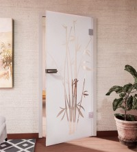 Glasdekor für Türen, Bambus
