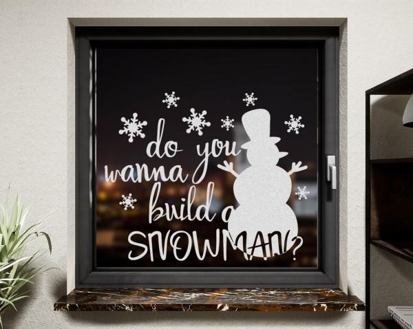 Fenstertattoo, Schneemann