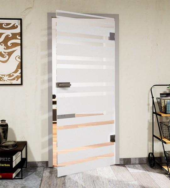 Glasdekor für Türen, unterschiedliche Steifen