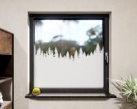 Glasdekor für Fenster, Tannenbäume