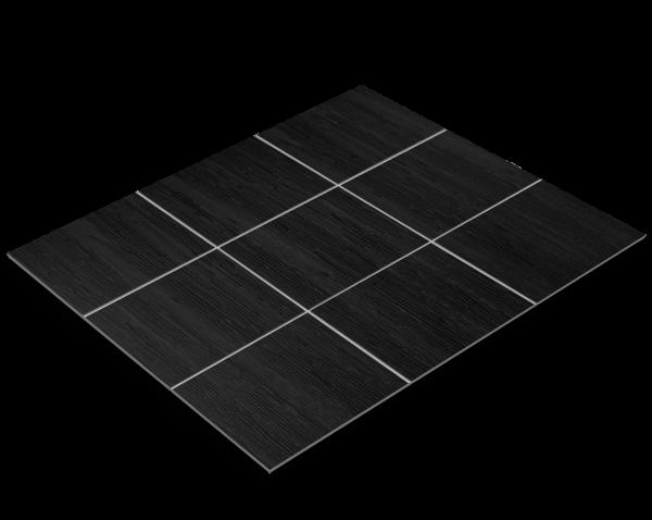 Fliesenfolie, schwarzes Holz