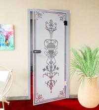 Glasdekor für Türen, Jugendstil Blumenkelch