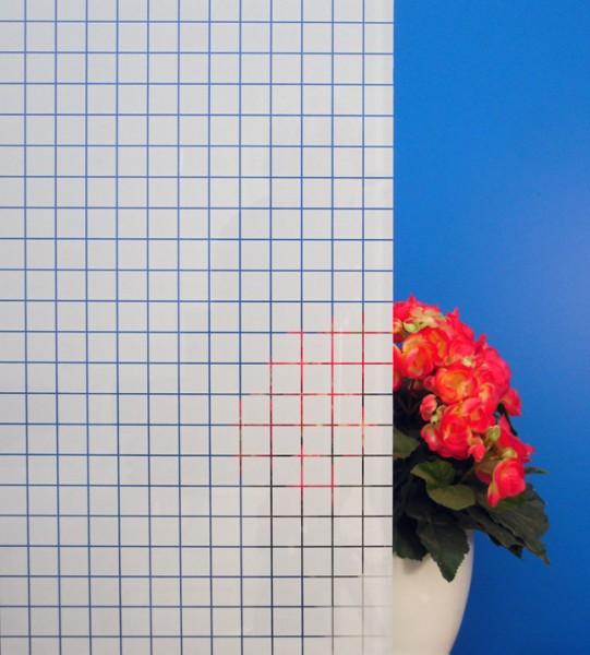 Dekorfolie, weiße Quadrate 19 mm