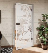 Glasdekor für Türen, Geisha
