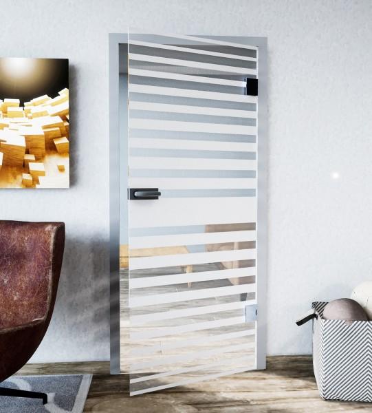 Glasdekor für Türen, zentrierter Streifenverlauf