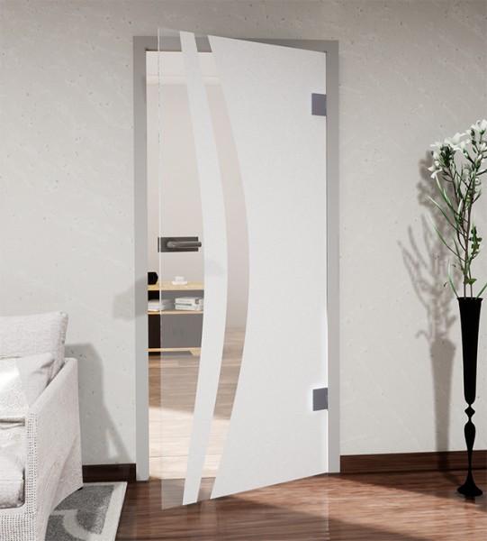 Glasdekor für Türen, breiter vertikaler Streifenbogen