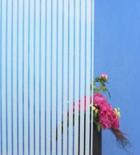 Dekorfolie, vertikale weiße Streifen, Breite 18 mm