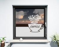 Glasdekor für Fenster, Kaffeetasse