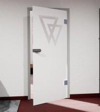 Glasdekor für Türen, überlappende Dreiecke