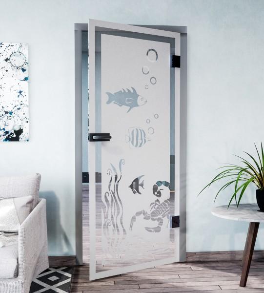 Glasdekor für Türen, Unterwasserwelt