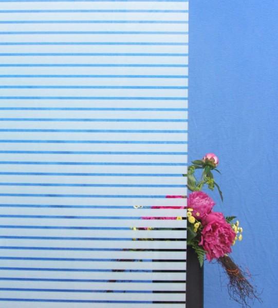 Dekorfolie, horizontale weiße Streifen, Breite 18 mm