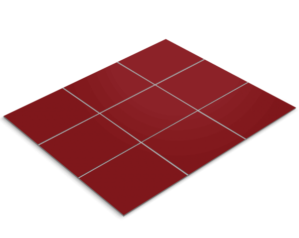 Fliesenfolie, Rot lackiert