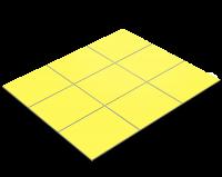 Fliesenfolie, Zitronengelb