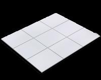 Fliesenfolie, Weiß lackiert