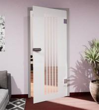 Glasdekor für Türen, vertikale Streifen
