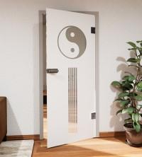 Glasdekor für Türen, Yin und Yang