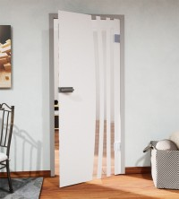 Glasdekor für Türen, vertikaler Streifenbogen