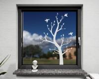 Fenstertattoo, Herbstbaum