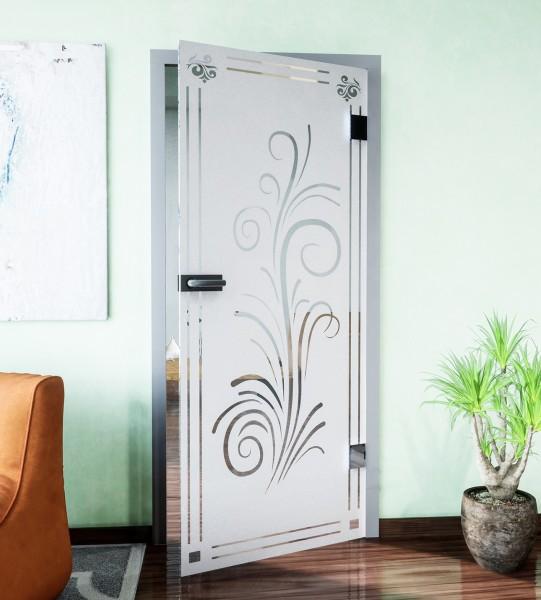 Glasdekor für Türen, Blumenranke