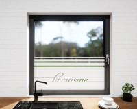 Glasdekor für Fenster, La cuisine