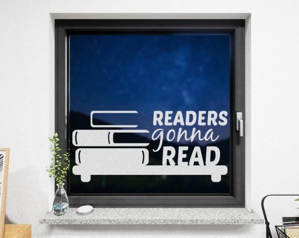Fenstertattoo Readers weiß matt