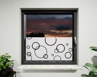 Glasdekor für Fenster, Kreise