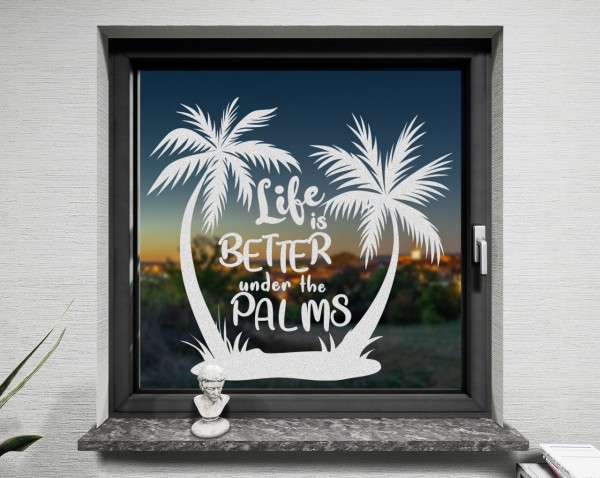 Fenstertattoo, Palmen