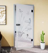 Glasdekor für Türen, Teichlandschaft