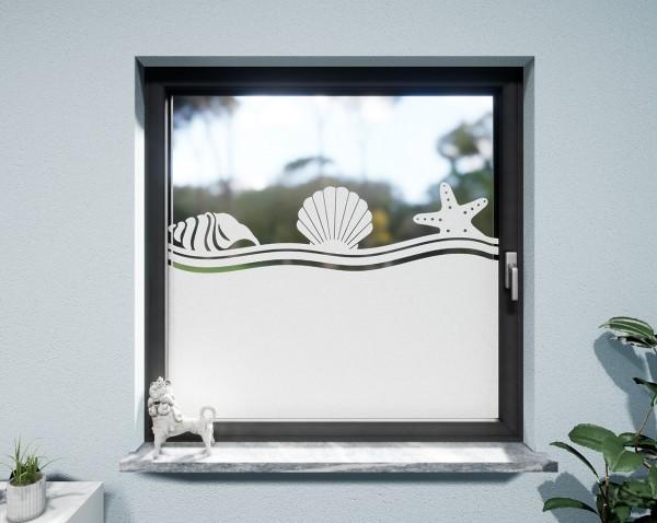 Glasdekor für Fenster, Strand Muschel