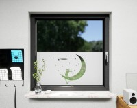 Glasdekor für Fenster, Mondkatzen