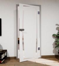 Glasdekor für Türen, gewölbter Rahmen