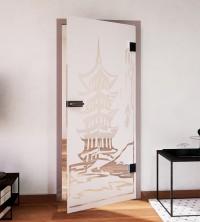 Glasdekor für Türen, Pagode