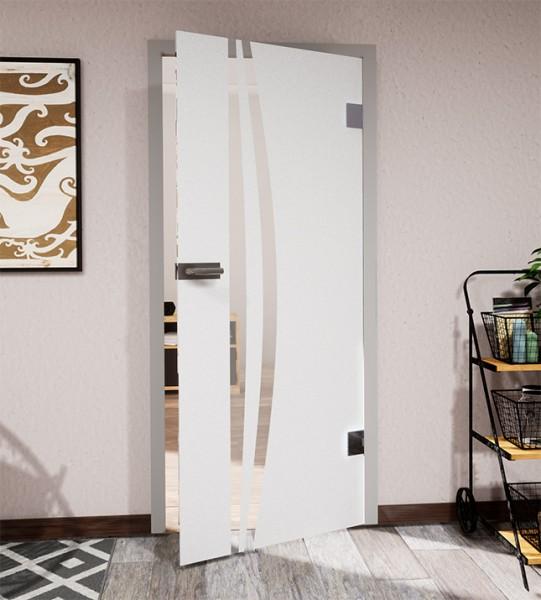 Glasdekor für Türen, schmaler vertikaler Streifenbogen