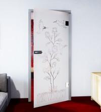 Glasdekor für Türen, Rosenduft