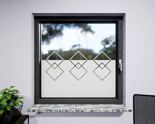 Glasdekor für Fenster, Konturquadrate