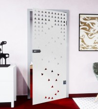 Glasdekor für Türen, Asteroids
