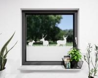 Glasdekor für Fenster, Hirsche